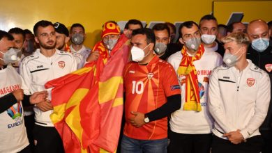 Photo of PM Zaev welcomes Macedonian football team at Blace after making history