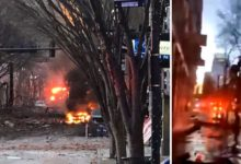Photo of Explosion in Nashville could be 'intentional act,' police say