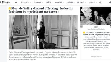 Photo of Former French president Giscard d'Estaing dies aged 94