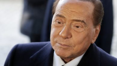 Photo of Italy's former prime minister Berlusconi back in hospital