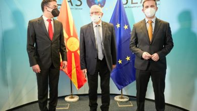 Photo of Deputy PM Dimitrov, FM Osmani meet EU foreign policy chief Borrell in Brussels