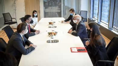 Photo of Deputy PM Dimitrov, FM Osmani discuss access to COVID-19 vaccines with EU's Borrell