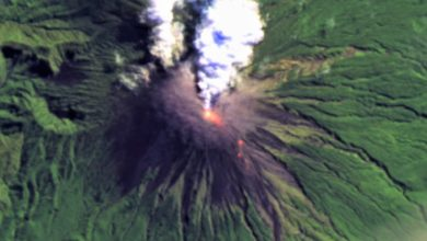Photo of Indonesia's Semeru volcano spews gas; nearby residents on alert