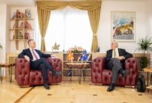 Photo of First Deputy PM Grubi meets Kosovo Ambassador Dedaj