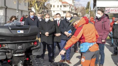 Photo of Vehicles and specialized equipment for winter rescue in Lake Ohrid border region promoted