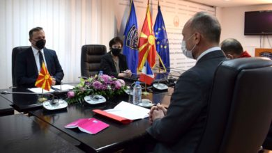 Photo of MoI Spasovski holds working meeting with French Ambassador Baumgartner