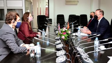 Photo of MoI Spasovski holds meeting with British Ambassador Galloway