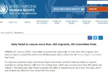 Photo of UN implicates Italy in death of 200 migrants in 2013 shipwreck