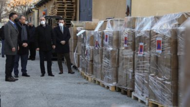 Photo of Czech Republic hands over donation of personal protective equipment