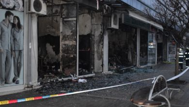 Photo of Fire destroys part of 'Global' mall on Strumica