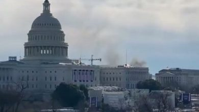 Photo of Biden inaugural rehearsal evacuated amid fire near US Capitol