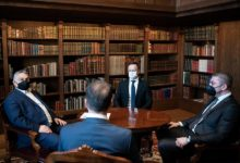Photo of VMRO-DPMNE leader Mickoski meets top officials in Hungary