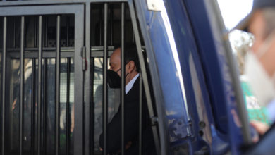 Photo of Ex-secret police chief Sasho Mijalkov is taken into detention