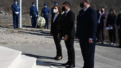 Photo of Gov't officials visit site near Mostar to honor late president Boris Trajkovski