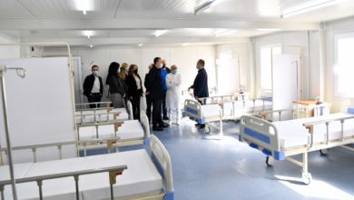 Photo of Gostivar's modular covid hospital officially open
