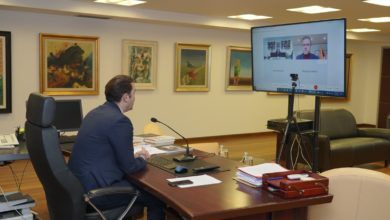 Photo of FM Osmani holds online meeting with Lithuanian counterpart Landsbergis