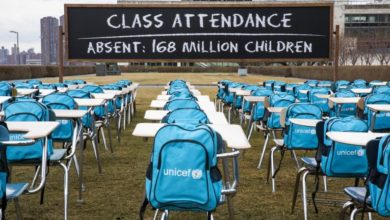 Photo of UNICEF: Schools for 168 million children closed for almost a year