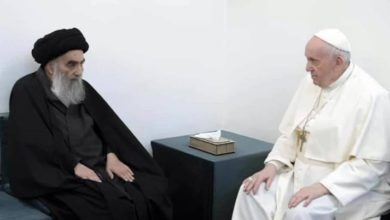 Photo of Pope Francis meets top Iraqi Shiite cleric in historic visit