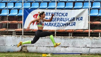 Photo of Mateja Efremovska from Kumanovo holds nothing back as she puts effort into athletics