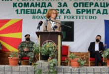 Photo of DM Shekerinska on 1st Infantry Brigade Day: You're the backbone of the Army