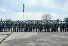 Photo of Macedonian troops depart for Kosovo to join NATO mission
