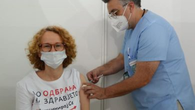 Photo of Defence Minister Shekerinska gets COVID-19 vaccine