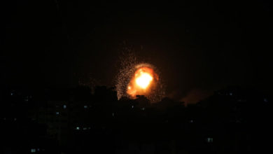 Photo of Israeli airstrikes in response to Gaza rocket barrage leave 20 dead