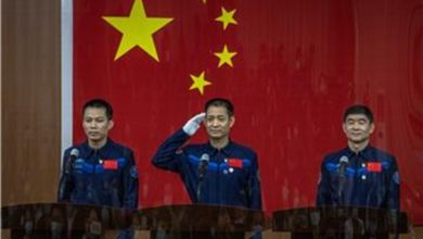 Photo of China launches first crew of astronauts to space station
