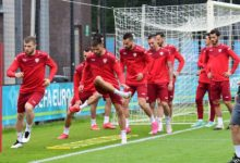 Photo of National team in training in Amsterdam