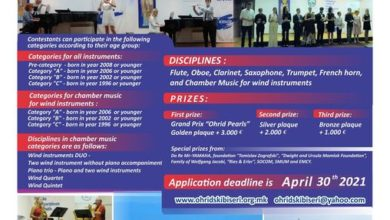 Photo of 20th international competition for young musicians 'Ohrid Pearls' starts
