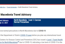 Photo of U.S. issues Level 1 health notice for travelers to North Macedonia