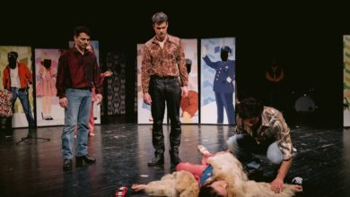 """Photo of Serbian National Theatre's play """"Who killed Janis Joplin?"""" at Ohrid Summer Festival"""